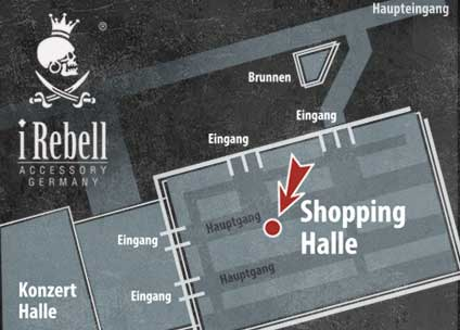 iRebell Stand Shopping-Halle
